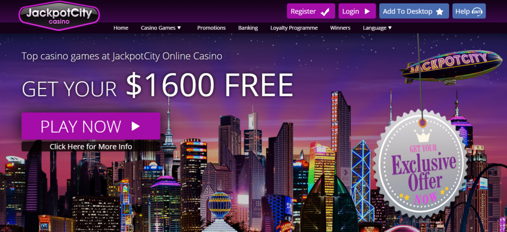 JackpotCity Casino screenshot